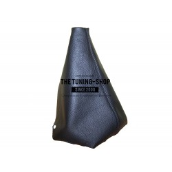 FOR PEUGEOT 307 GEAR GAITER SHIFT BOOT BLACK GENUINE LEATHER