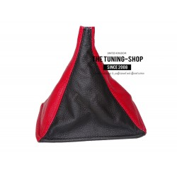FOR TOYOTA MR2 MK1 AW11 85-89 GEAR GAITER BOOT BLACK & RED LEATHER