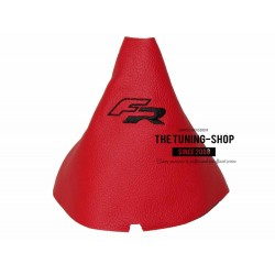 FOR SEAT IBIZA 2009-2014 GEAR GAITER RED LEATHER