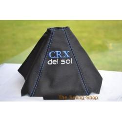 HONDA DEL SOL 92-97 GEAR GAITER SHIFT BOOT LEATHER NEW EMB 2