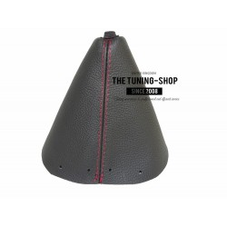 FOR PEUGEOT 308 2007-2013 6 SPEED MANUAL GEAR GAITER BLACK LEATHER RED STITCHING