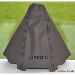 AUDI A4 2001-2004 GEAR GAITER BLACK LEATHER embroidery QUATTRO