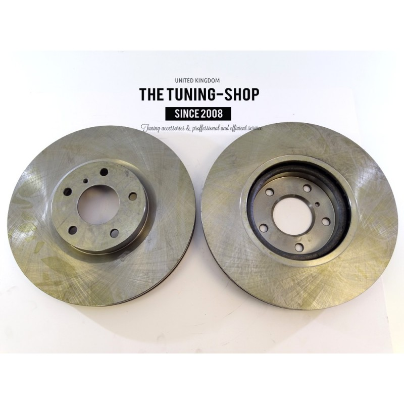 2x Brake Disc Rotor Front 31375a As Tec For Nissan 350z
