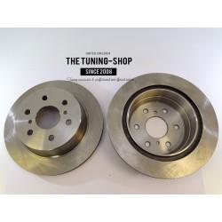 2x Brake Disc Rotor Rear 55133 JASON 580422 For CADILLAC ESCALADE CHEVROLET SUBURBAN 1500