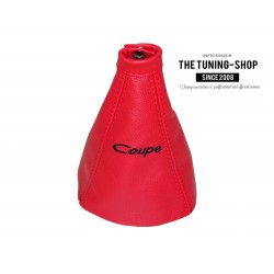 FOR HYUNDAI COUPE TIBURON 2002-2005 GEAR GAITER RED LEATHER