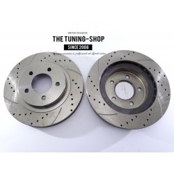2x Brake Disc Rotor Front 5386A AS TEC Drilled For CHRYSLER 300M CONCORDE INTREPID