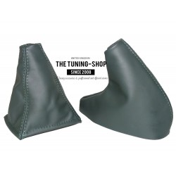 FOR  MG MGF 95-00 GEAR & HANDBRAKE GAITERS BOOTS GREEN ALCANTARA NEW