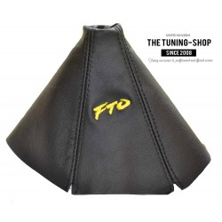 FOR MITSUBISHI FTO 1994-2000 GEAR GAITER BLACK LEATHER EMBROIDERY FTO YELLOW
