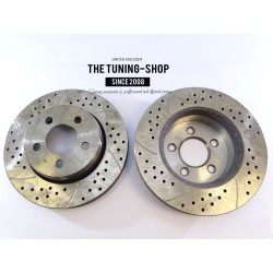 2x Vented Front Brake Disc Rotors 53042A Drilled For DODGE NITRO JEEP LIBERTY