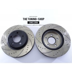 2x Brake Disc Rotor Front 5361A AS TEC Drilled For CHRYSLER CIRRUS DODGE STRATUS PLYMOUTH BREEZE