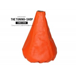 FOR FIAT GRANDE PUNTO 2005-2012 GEAR GAITER ORANGE LEATHER SHIFT BOOT NEW