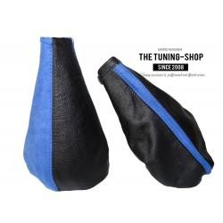 FOR FIAT PUNTO MK1 93-99 GEAR & HANDBRAKE GAITERS BLACK+ BLUE