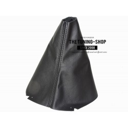 FITS VOLKSWAGEN GOLF 7 JETTA 2013-2016 GEAR GAITER BLACK ITALIAN LEATHER