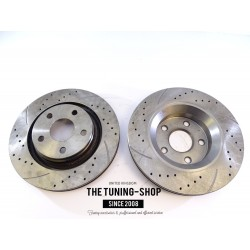 2x Brake Disc Rotor Front 31394 R/QBP For Acura RL 2005-2012