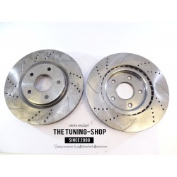 2x Brake Disc Rotor Front 53068 JASON For CHRYSLER TOWN & COUNTRY DODGE JOURNEY