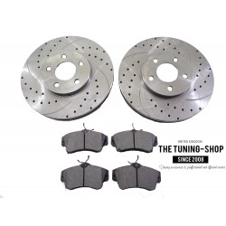 2x Front Discs Brake Rotors 53000A Brake Pads D841 CBK For Chrysler PT Cruiser