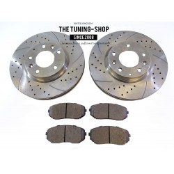 2x Front Brake Disc Rotor 31460A Brake Pads D1258 CBK For Mazda CX-7 2007-2012
