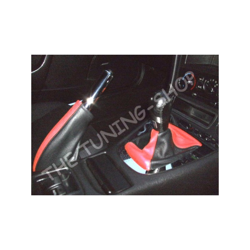 For Mazda 6 2008 2013 Gear Gaiter Shifter Boot Black Leather New: MAZDA MX-5 MX5 MIATA 89-03 GEAR HANDBRAKE GAITER BLACK & RED LEATHER NEW