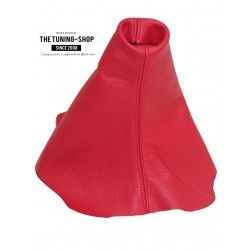 FOR CITROEN C2 GEAR GAITER SHIFT BOOT RED GENUINE LEATHER NEW