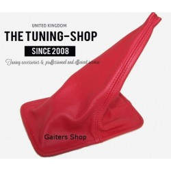 FOR  TOYOTA CELICA 90-93 GEAR GAITER RED LEATHER