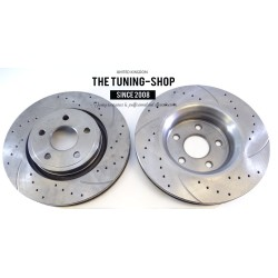 2x Brake Disc Rotor Front 5373 AS TEC Brake Pads D591 CBK For Chrysler Grand Voyager Town & Country