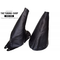 FOR FORD MUSTANG 1994-98 GEAR GAITER BLACK LEATHER