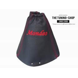 FOR FORD MONDEO MK3 01-03 GEAR GAITER RED STITCH LEATHER EMBROIDED