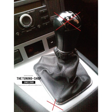FOR FORD MONDEO MK3 03-06 GEAR GAITER SHIFTER BOOT BLACK LEATHER NEW - The  Tuning Shop Ltd