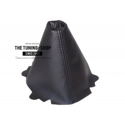 FOR AUDI A3 2013-2016 AUTOMATIC GEAR GAITER BLACK LEATHER BLACK STITCHING