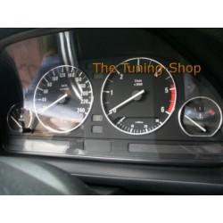 FOR BMW E32 E34 CHROME DIAL GAUGE RINGS SURROUNDS SET NEW