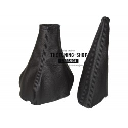 FOR ASTRA MK3 F 91-98 GEAR+HANDBRAKE GAITER BLACK LEATHER