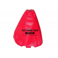 FOR SKODA FABIA 99-07 GEAR GAITER SHIFTER BOOT RED LEATHER NEW