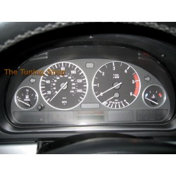 FOR BMW E38 E39 X5 DIAL GAUGE RINGS SURROUNDS SET BRUSHED ALUMINIUM NEW