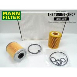 Premium Service Kit for Vauxhall Opel Astra H 1.7 CDTI 110HP Diesel 04-09 Air Cabin Fuel Oil Filter Mann New