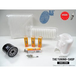 Premium Service Kit for Toyota Yaris Vitz 1.0 68HP 99-05 French Version Air Cabin Oil Filters & Spark Plugs New