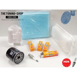 Premium Service Kit for Toyota Yaris Vitz 1.0 68HP 99-05 Japan Version Air Cabin Oil Filters & Spark Plugs New