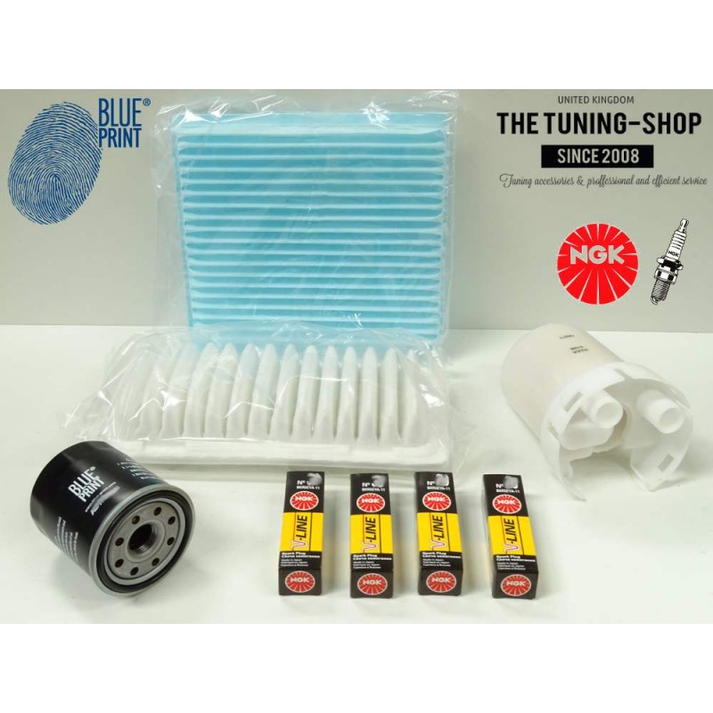 Premium Service Kit For Toyota Yaris Vitz V Hp Air Cabin Fuel Oil Filters Spark Plugs New on 2000 Volvo S70 Spark Plugs