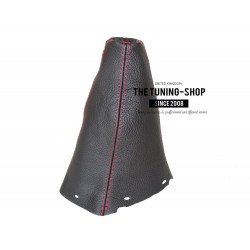 FOR TOYOTA AVENSIS 2003-2008 5 speed GEAR GAITER BLACK LEATHER RED STITCHING