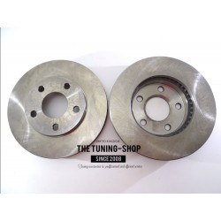 2x Brake Disc Rotor Front 55014 AS TEC For BUICK RIVIERA CHEVROLET CAMARO