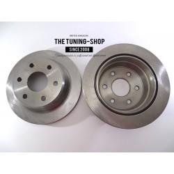 2x Brake Disc Rotor Rear 55066 AS TEC For CHEVROLET BLAZER S10 PICKUP