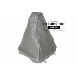 FOR FORD TRANSIT 2006-2013 GEAR GAITER SHIFT BOOT WITH PLASTIC FRAME GREY LEATHER