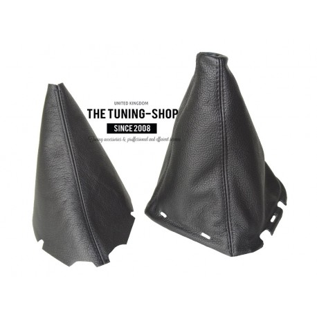 FOR NISSAN PATHFINDER R51 2005+ GEAR GAITER SHIFT BOOT BLACK LEATHER WITH PLASTIC FRAME