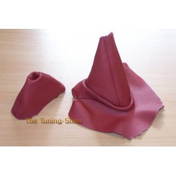 BMW Z4 E85 E86 GEAR & HANDBRAKE GAITER CALYPSO RED LEATHER