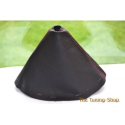 MAZDA MX-5 MX5 MK3 05-09 GEAR GAITER SHIFT BOOT LEATHER RED STITCHING