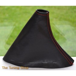 MAZDA MX-5 MX5 MK3 05-09 HANDBRAKE GAITER LEATHER RED STITCHING