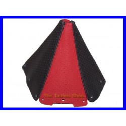 MAZDA MX5 MIATA 89-97 GEAR GAITER SHIFT BOOT BLACK & RED PERFORA