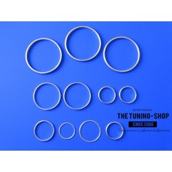 FOR  TOYOTA SUPRA MK4 93-98 DASH RINGS SURROUNDS SET OF 11 MATT / BRUSHED ALLOY FINISH NEW