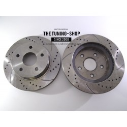 2x Brake Disc Rotor Front 53005A AS TEC Drilled For CHRYSLER ASPEN DODGE DURANGO