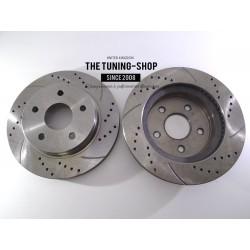 2x Brake Disc Rotor Front 53005A AS TEC Drilled For CHRYSLER ASPEN DODGE DURANGO
