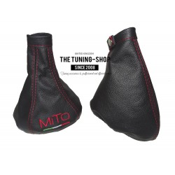 FOR ALFA ROMEO MITO 2008-2015 GEAR GAITER MITO ITALY RED STITCHING